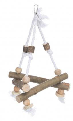 Závesný drevený triangel 27x27x27cm
