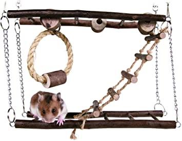 Natural Living drevený most dvojitý pre myši, škrečky 27 x 17 x 7 cm