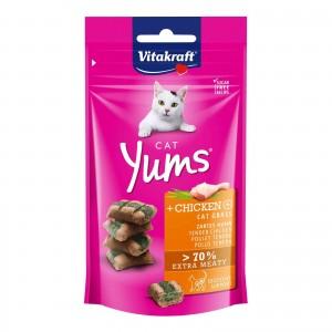 CAT Yums kura a mačacia tráva, 40g