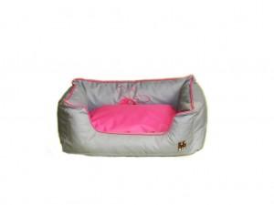Kanape HUHU šedá/ružová 55x35cm
