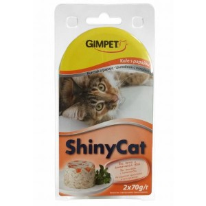Konz.SHINY CAT kura+papája 2x70g