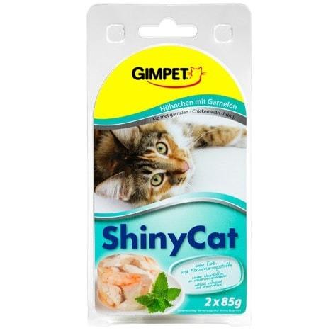 Konz.SHINY CAT kura+krevety 2x70g