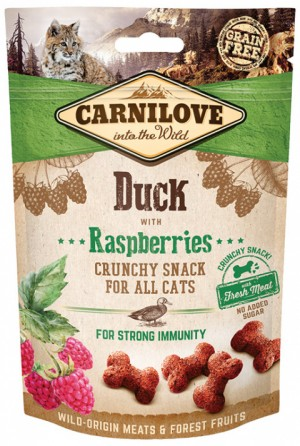 Carnilove Crunchy Snack Kačka, maliny50g