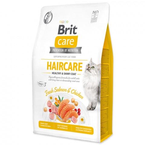Brit Care Cat Haircare Losos&Kura 0,4kg