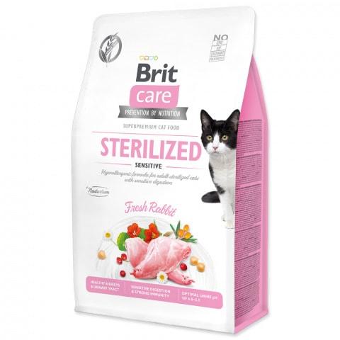 Brit Care Cat Sterilised Sensitive Králik 0,4kg