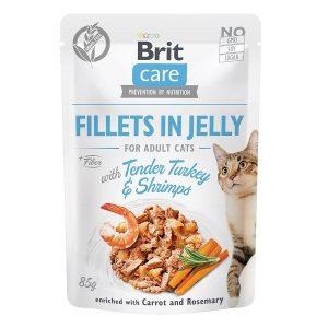 Brit Care Cat JELLY morka a krevety 85g