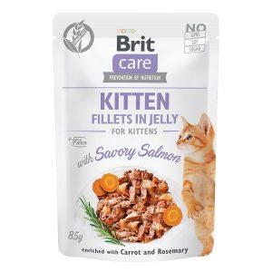 Brit Care Cat Kitten JELLY Losos 85g