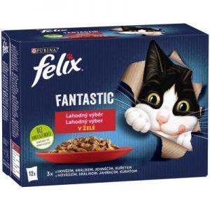 Felix fantastic kapsička pre mačky mäsový výber 12 x 85 g