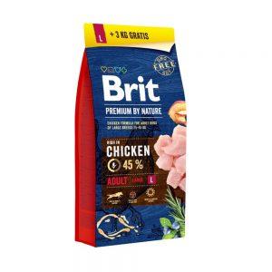 Brit by nature Adult L 15+3kg