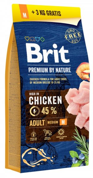 BRIT Premium by Nature Adult M 15+3kg