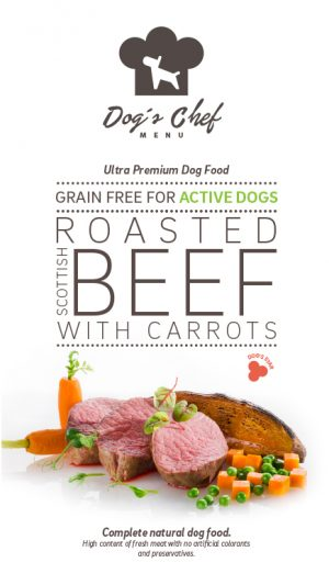 Roasted Scottish Beef with Carrots Active Dogs