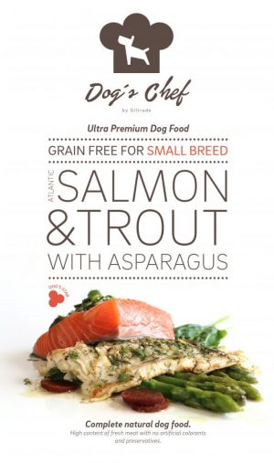 Atlantic Salmon & Trout with Asparagus Small Breed